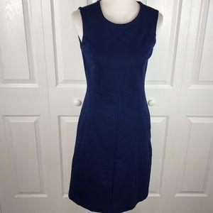LANDSEND Blue Sleeveless Sheath Dress Classic